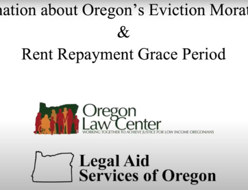 Oregon Eviction Moratorium – Video Explainer